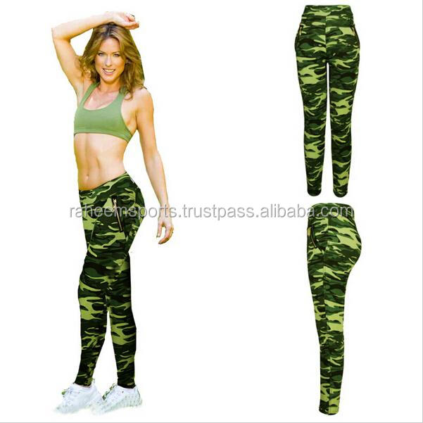 Womens military camouflage leggings high elastic fitness gym workout pants capris for women sport running pencil pants trousers