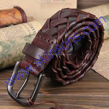 leather belts in cow leather
