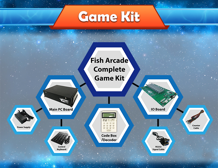 VGAME 2020 New Fish Game Gambling Machine Software