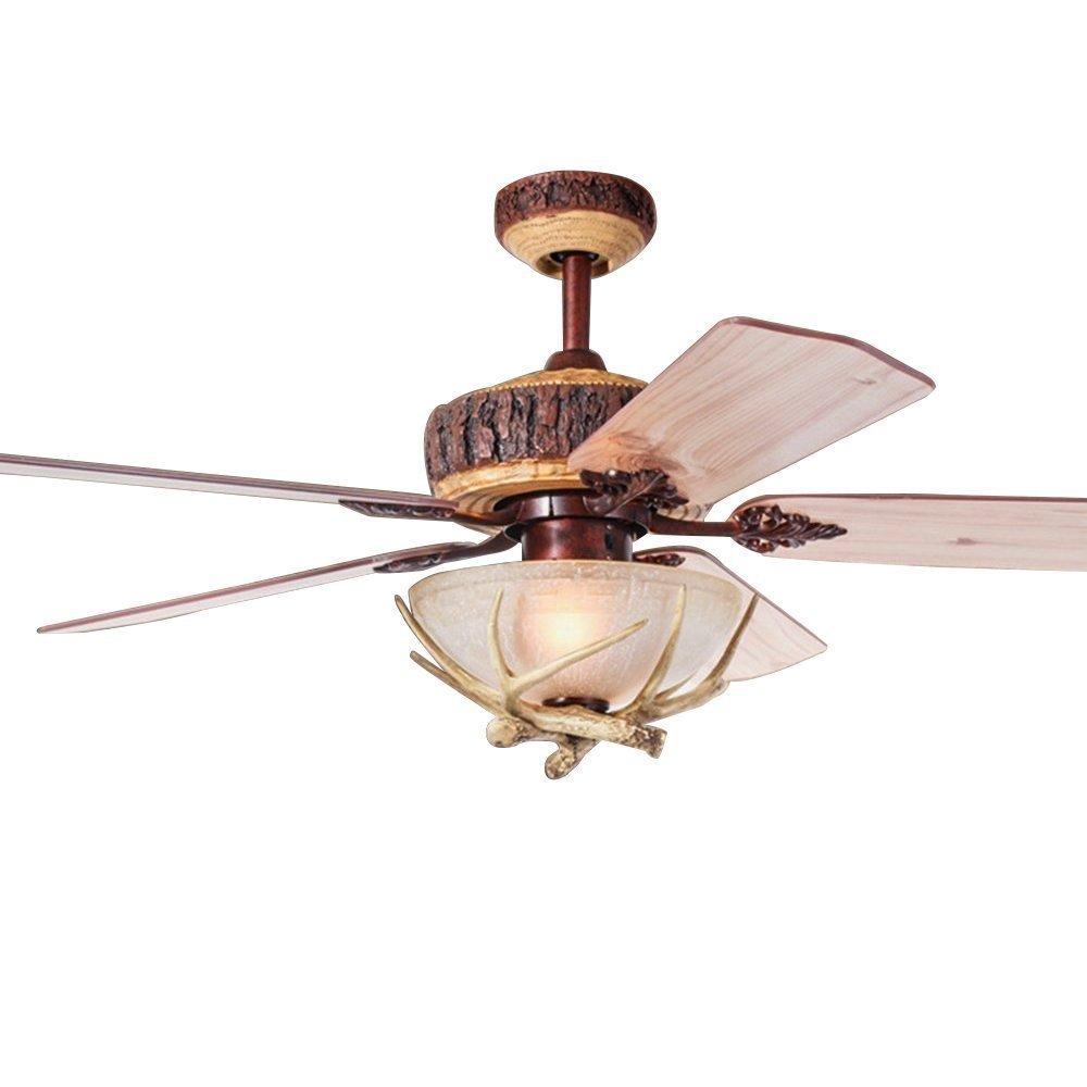 Akronfire Rustic Ceiling Fan With 5