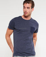 Wholesale Clothing Men Cheap Plain Color T Shirts Simple Round Neck Short/Men Fashionable Dark Blue Tee