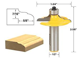 Yonico 12161 Thumbnail Euro Style Door and Drawer Front Edging Router Bit 1//2-Inch Shank