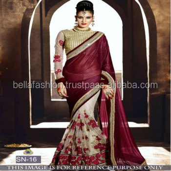 c54812a89382d Modern Full Net Slevees Bollywood Golden Designer Blouse Wedding and Party  Wear Bridal Sarees