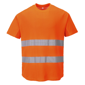 Reflective Workwear Men Tee 100% Polyester Mesh Dryfit Short Sleeve