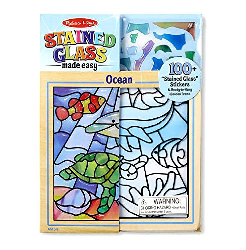 Melissa & Doug Stained Glass Made Easy Ocean from Little Folks with Free Gift