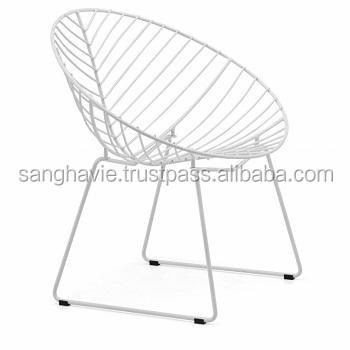RED COLOR LUXURY WIRE METAL CHAIR