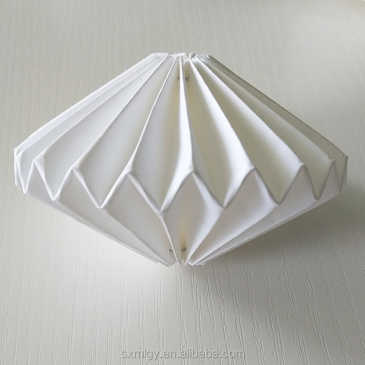 White Origami Paper Lantern Led String Lights For Balcony Decoration
