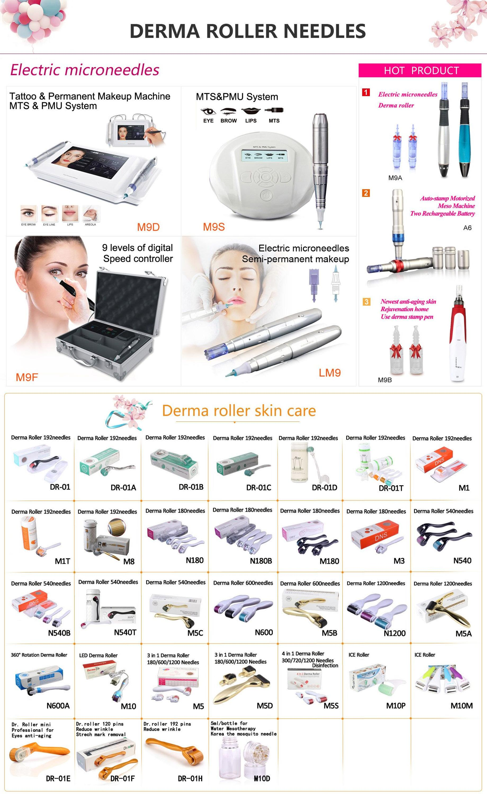 Automatic micro needle makeup device derma Micro needling pen Electric Pen wireless