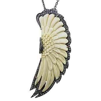 Diamante New Designer 925 Sterling Silver Osso Escultura De Pedras Preciosas Jóias Da Asa Do Anjo Pingente Buy Diamante New Designer 925 Sterling