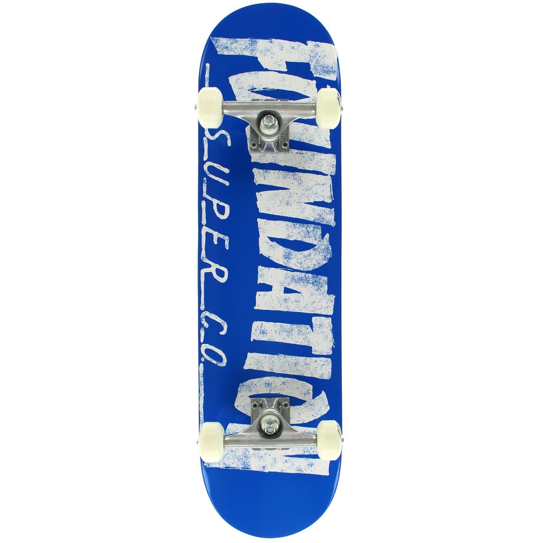 "Foundation Skateboards Thrasher Blue Complete Skateboard - 8"" x 31.125"""