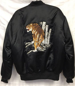 Vintage Japanese Tiger Souvenir jacket/New Custom Silk bomber jacket/Street wear bomber Jackets