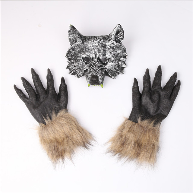 <strong>Halloween</strong> Wolf Face <strong>Mask</strong> And Gloves Suit, Scary Fancy Ball Supplies,Helloween <strong>Custom</strong> <strong>Halloween</strong> <strong>Mask</strong> For <strong>Halloween</strong> Decoration