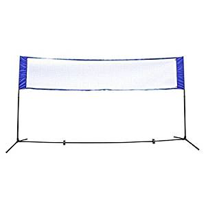 Height Adujstable 13.8'x5' Badminton Net Tennis Volleyball W/Stand Frame Outdoor