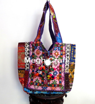 f4bcf7c1cdd Mirrors Kutch Tote Bag- Bags for Women - Patchwork Sling Bag - Multicolored  Kutch Embroidered Hand Bag, View indian tote bags, ELEGANCE Product ...