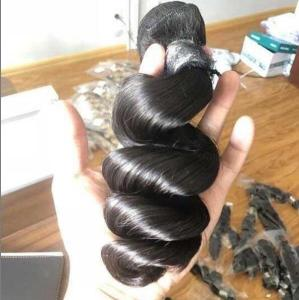 4 Bundles Indian Loose Wave Hair Sunlight 100% Human Hai,10a indian/brazilian hair bundles with closure, 100% virgin indian remy