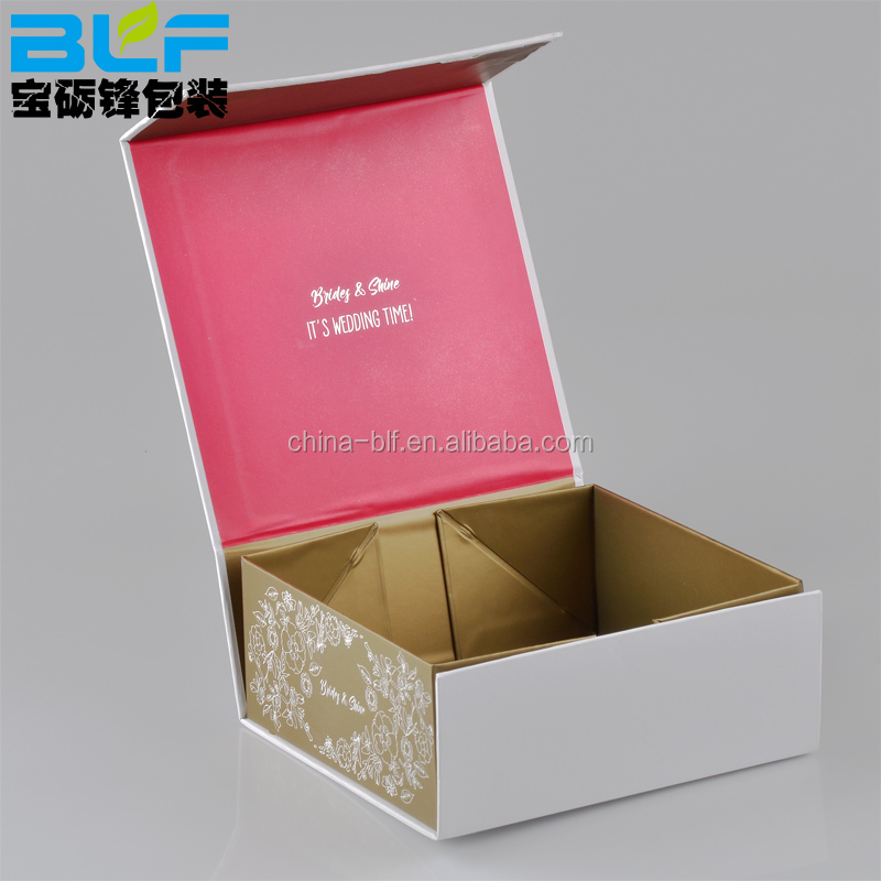 white simple shoe clothing cosmetic printed square folding paper gift custom cardboard boxes
