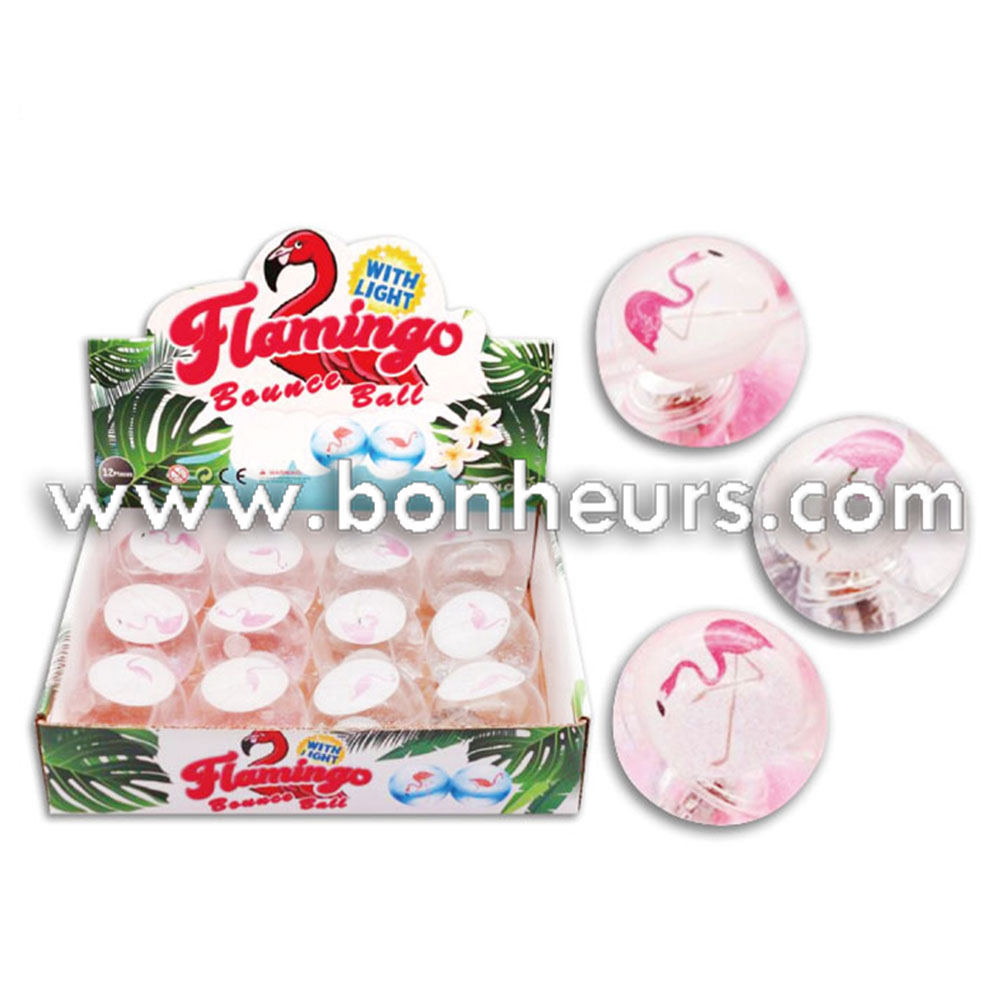 Light Up Flamingo Water Bouncy Ball