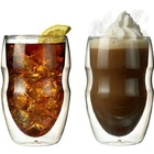 Double Wall 12 oz Beverage And Coffee Glasses