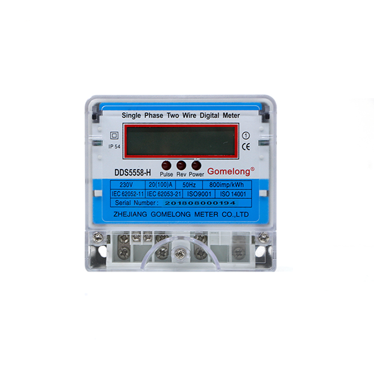 2019 New DDS5558 Single Phase Two Wire Electricity Energy Meter Lcd Display