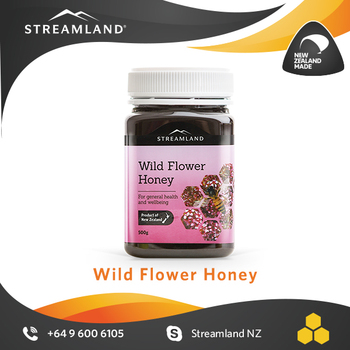 Organic New zealand flora honey Superb sugar substitute Wild flower honey