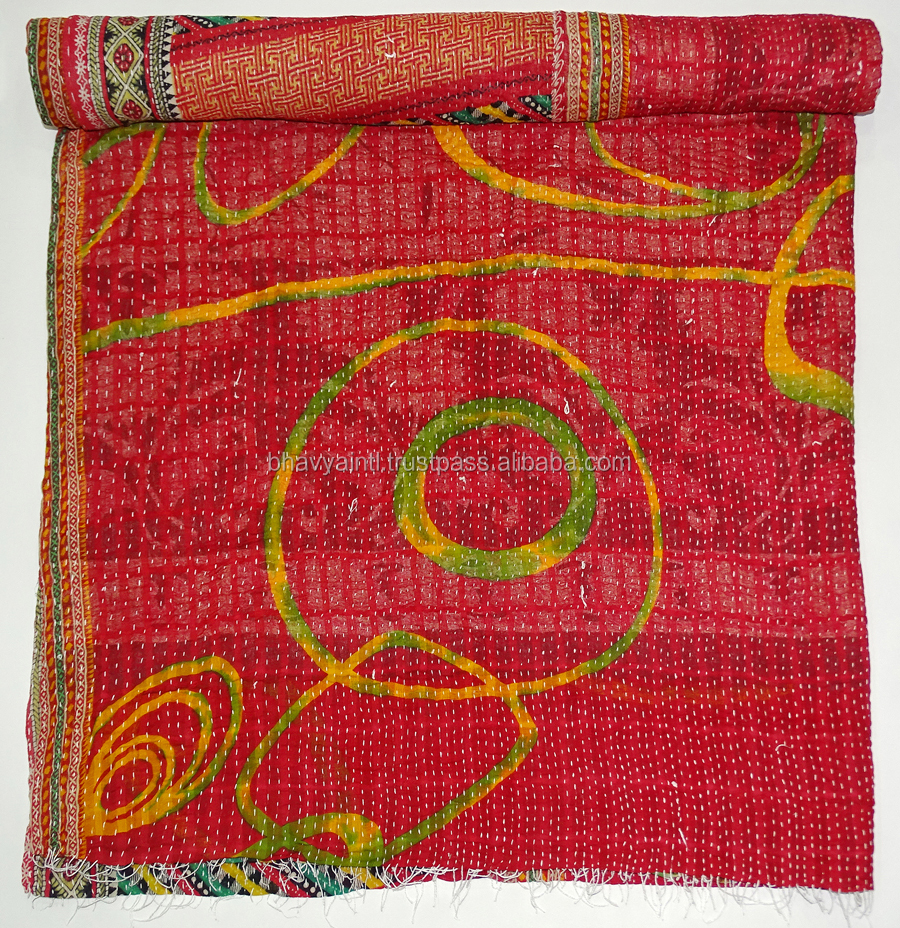 New 2017 Indian Handmade Vintage Cotton kantha quilt