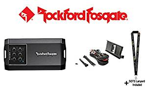 Rockford Fosgate T400X4ad 400 Watt Class AD 4-Channel Amplifier and Rockford Fosgate RFRNGR-K8 Amp kit mounting plate for select RANGER models and a SOTS Lanyard