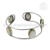 Beautiful silver bangle mother of pearl gemstone 925 sterling silver jewelry bangles wholesaler