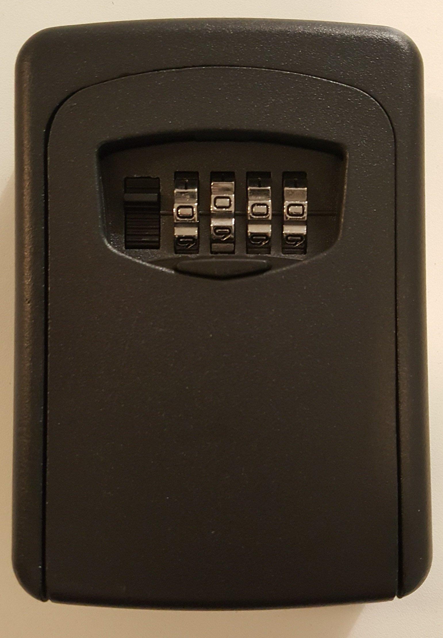 Key Storage Lock Box, Combination Lock Box, Wall Mounted Lock Box Black. black lockbox (Heavy Duty)