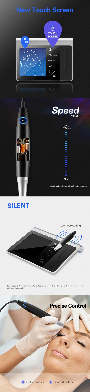 Solong nieuwe mastor digitale permanente make-up machine naalden microblade wenkbrauwen pen cosmetische china tattoo machine