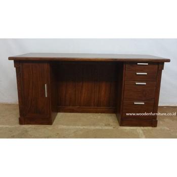 Teak Minimalist Desk Indonesia Teak Wood Office Furniture   Buy Teak Wood  Indoor Furniture,Indonesia Teak Wood Furniture,Teak Minimalist Desk Product  ...