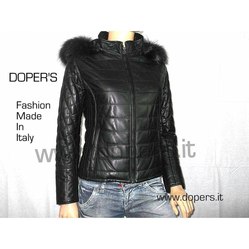 Leather jacket for women model Amsterdam