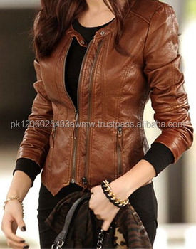 fashion jacket for women new style women fashion leather jacket