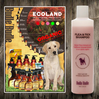 Budle Budle Flea & Tick Dog Shampoo 300ml 10.14oz For Dogs Puppies All Pets With Aloe Vera, Avocado Oil, Jojoba Oil