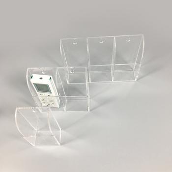 Wall Mount Remote Control Holder Clear Acrylic Media Organizer
