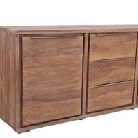 Sideboard Cabinet Storage with 3 Doors 2 Drawers Tableware Organizer Cupboard Unit Home Living Room Kitchen Furniture