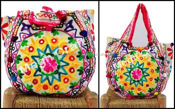 2dbe390515 Traditional Kutch handbags -Aari Work Tote HandBag -Aari Design Embroidery  Hand Bag