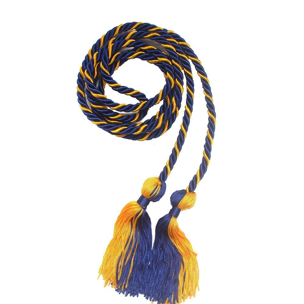 Robe Depot Two-color Graduation Honor Cords (Royal Blue and Gold)