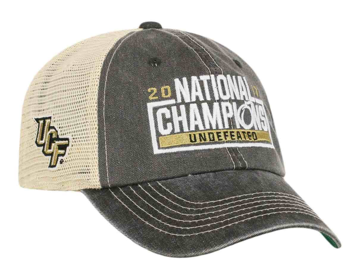 Get Quotations · Central Florida UCF Knights 2017 National Champions Undefeated  Mesh Adj Hat Cap ef301e5a721d