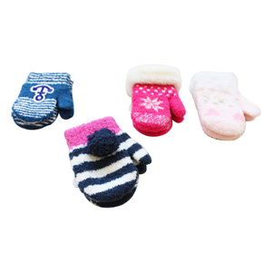 Cotton Baby Mittens Knitted Cotton Soft gloves