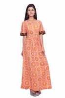 Evening Gown Party wear Latest Printed Beautiful Long Wear