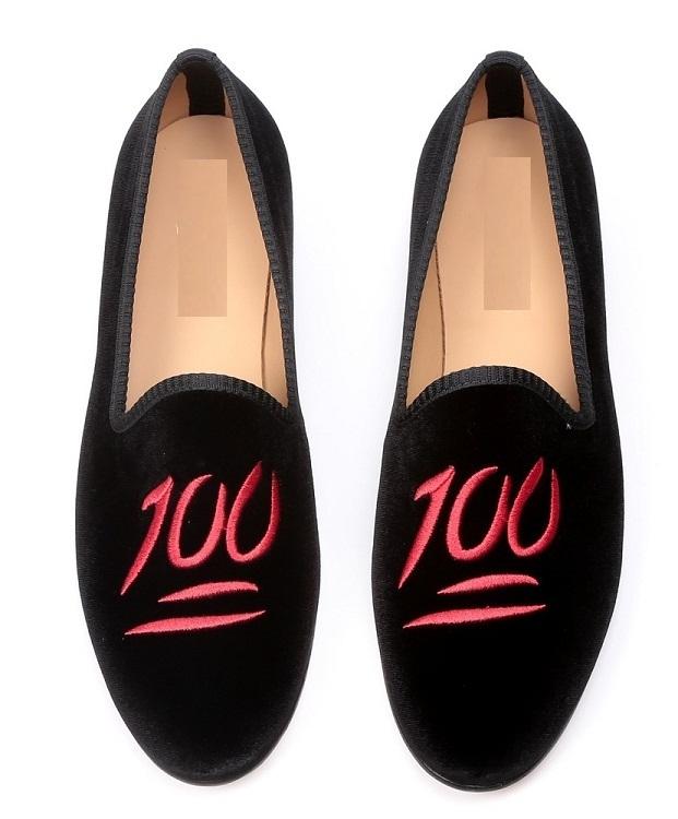 Men Velvet Shoes Loafer Black Slipper H1OZq