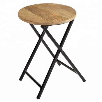 Wondrous Indian Industrial Furniture Metal Round Wood Top Folded Height Bar Stool Buy Bar Stool Modern Appearance Bistro Coffee Stool Wooden Bar Stool Metal Ibusinesslaw Wood Chair Design Ideas Ibusinesslaworg