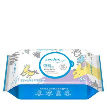 Korean Fresh Wet Wipes FINDEN Skinbebe Cleansing Soothing For Baby Skin 80sheets 55gsm