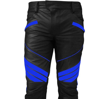 drop shipping where to buy nice shoes Mens Sexy Real Black & Blue Leather Motorcycle Bikers Pants Jeans Trouser,  View genuine leather pants, Customers Brands Product Details from BIKE ...