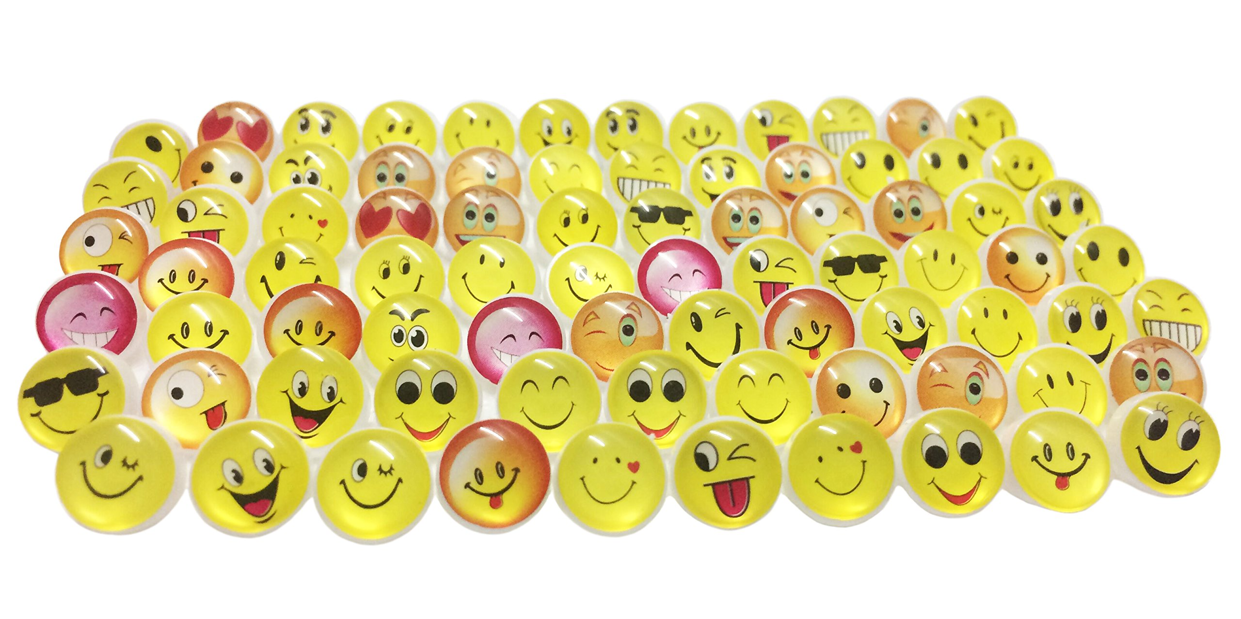 48 SMILEY FACE PINS yellow smile happy face lapel pin button BIRTHDAY PARTY NICE