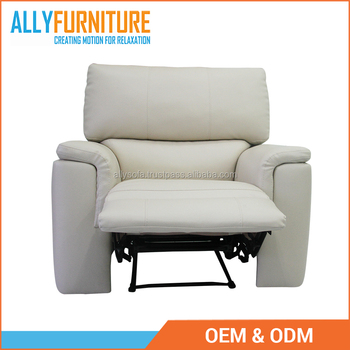 Luxury Living Room Furniture Single Motion Sofa 100 Pvc With Modern