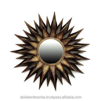 Sun Mirror Metal Wall