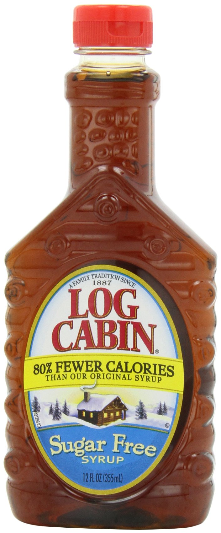 Log Cabin Syrup, Sugar Free, 12 Ounce (Pack of 6)