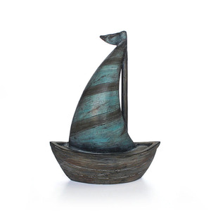 Custom resin manufacturer desk ornament statue collectible 3d antique scale old sailboat ship model