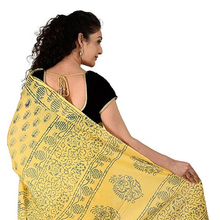 Baumwolle Block Drucken Saree mit <span class=keywords><strong>Unstitched</strong></span> <span class=keywords><strong>Bluse</strong></span>